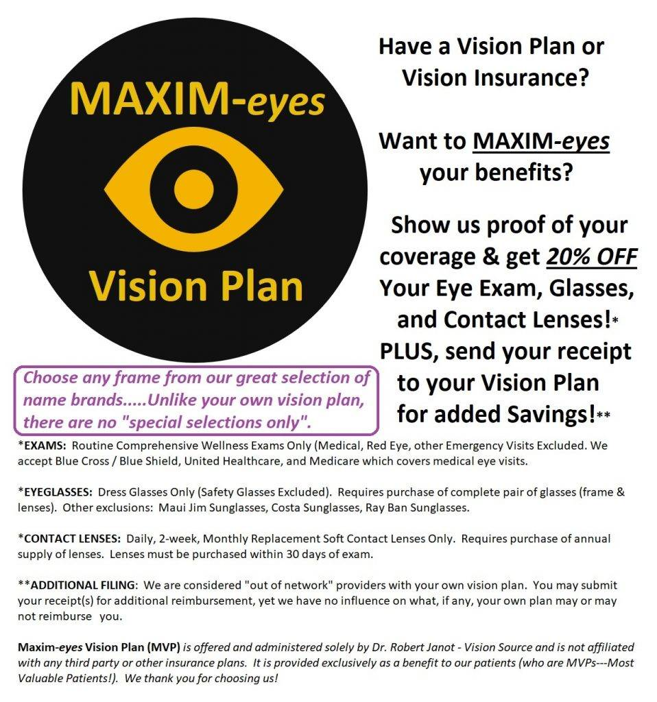 Maxim eyes Vision Plan details jpeg